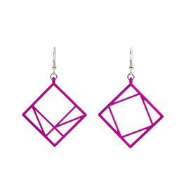 JEWE Cofactor Pythagorean Theorem Earrings, Pink