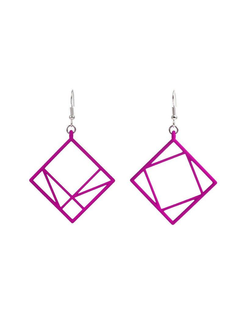 JEWE Cofactor Pythagorean Theorem Earrings, Pink