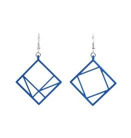 JEWE Cofactor Pythagorean Theorem Earrings, Blue