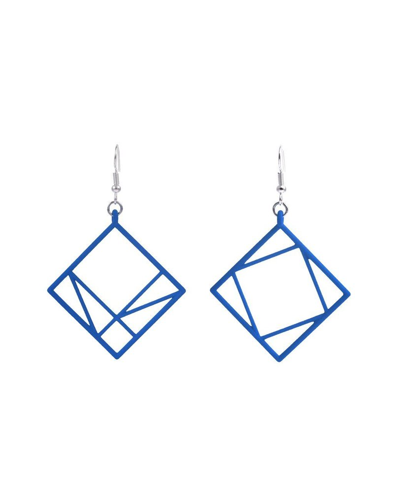 JEWE Cofactor Pythagorean Theorem Earrings, Blue