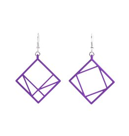 JEWE Cofactor Pythagorean Theorem Earrings, Purple