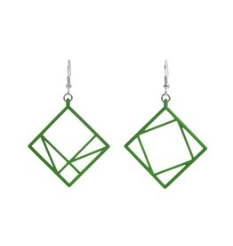 JEWE Cofactor Pythagorean Theorem Earrings, Green