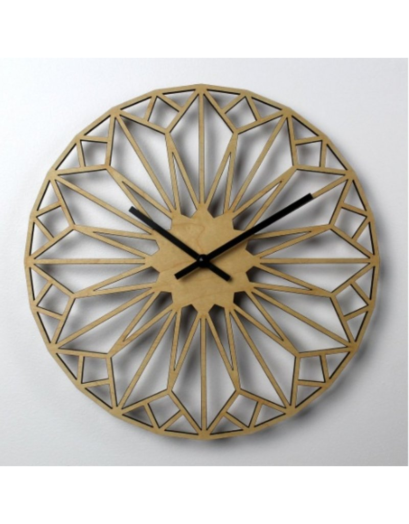 HOME Diamond Wooden Wall Clock | Nygaard Design