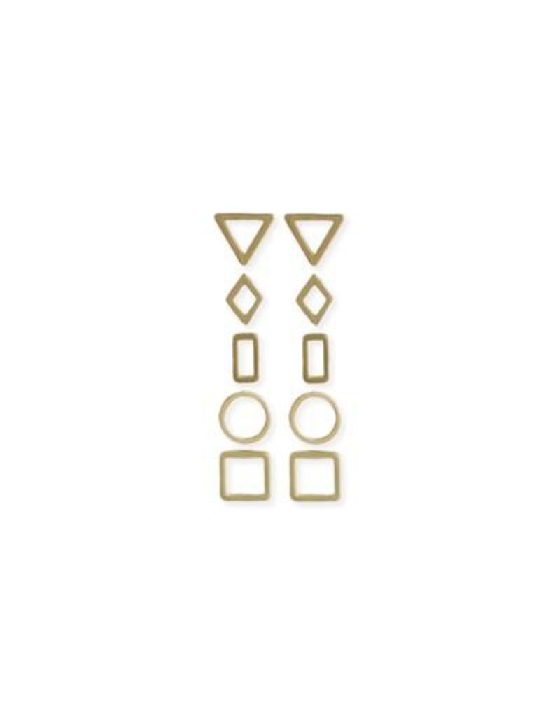 JEWE Geometric Earring Stud Set