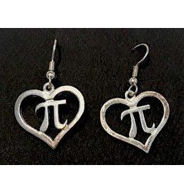 JEWE Pi Heart Earrings