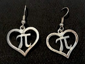 JEWE Pi Heart Earrings