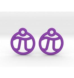 JEWE 3D Printed Tiny Pi Earrings | Hanusa Design