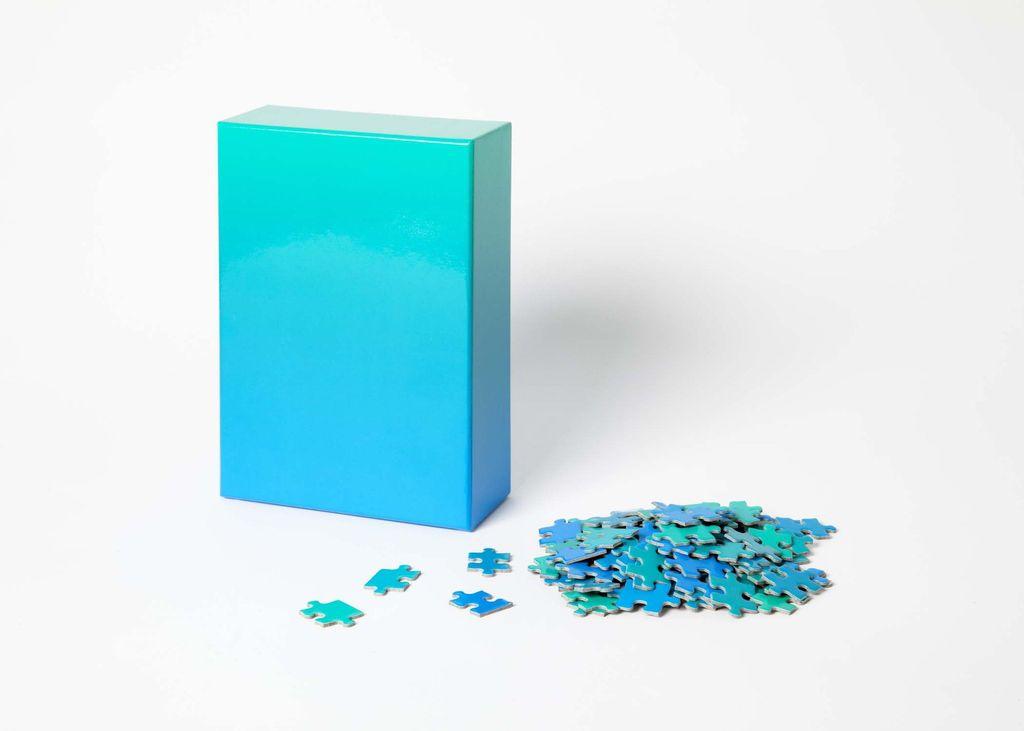 GATO Gradient Puzzle, 500 Pcs - Green/Blue