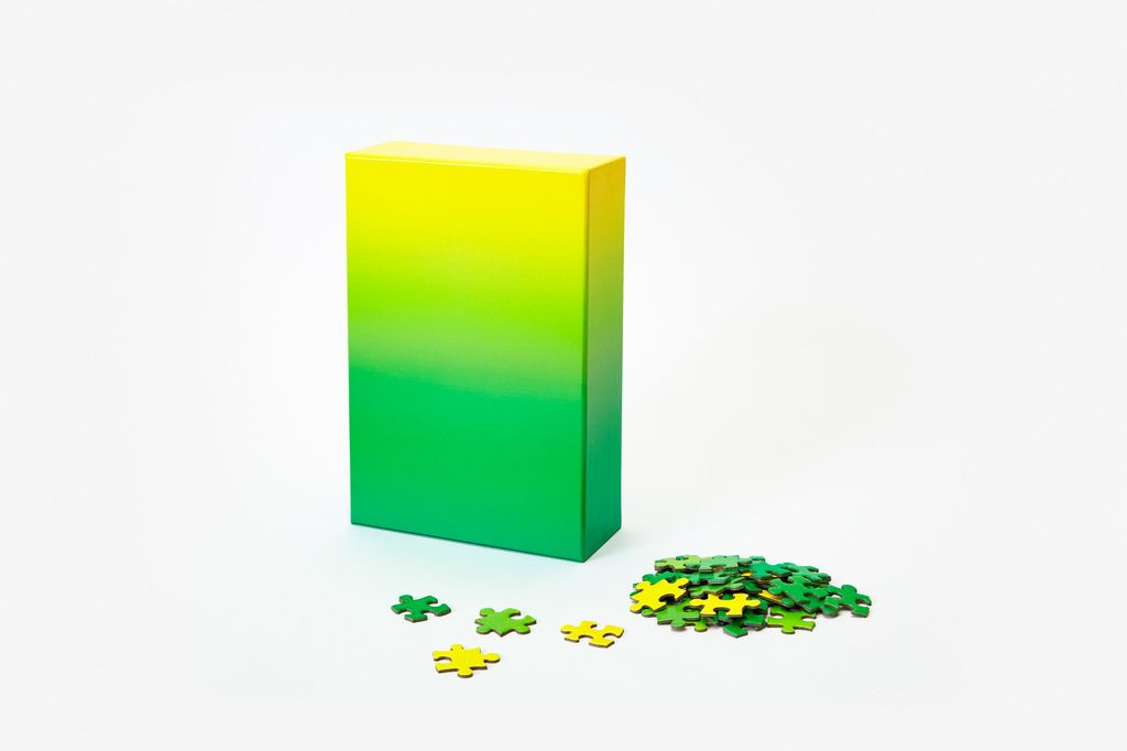 GATO Gradient Puzzle, 500 Pcs - Green/Yellow
