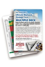 BODV Ultimate Blackjack Strategy Card: Multiple Deck