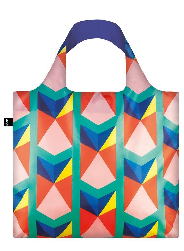 HOME LOQI Geometric Triangles Bag