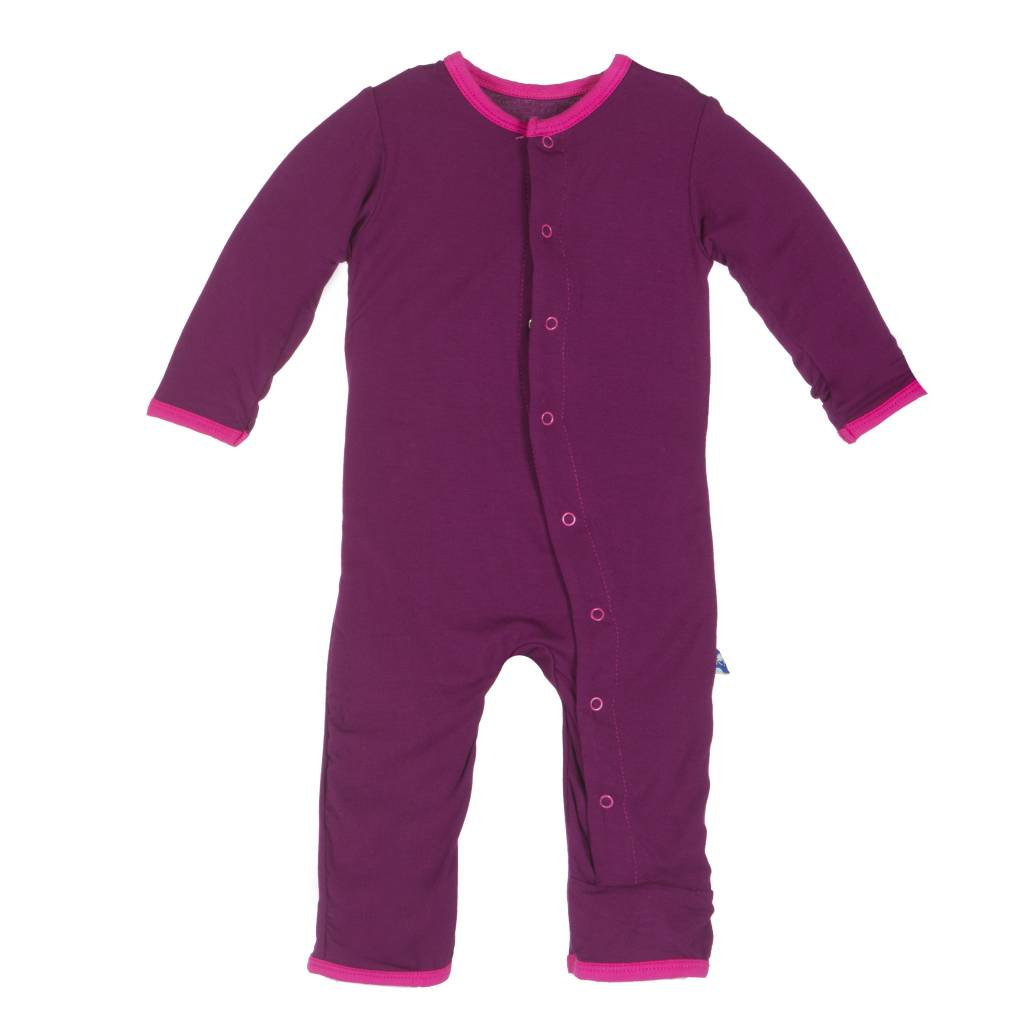 Kickee Pants Coverall - Applique - APPLIQUE COVERALL MELODY HEDGEHOG