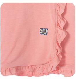 Kickee Pants Blanket - Stroller - Solid Ruffle Stroller Blanket