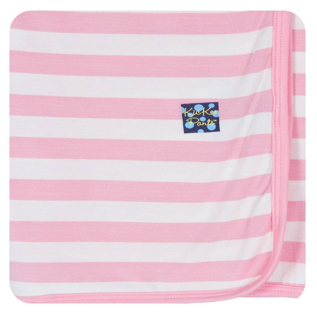 Kickee Pants Blanket - Swaddle - Essentials Swaddling Blanket (Lotus Stripe)