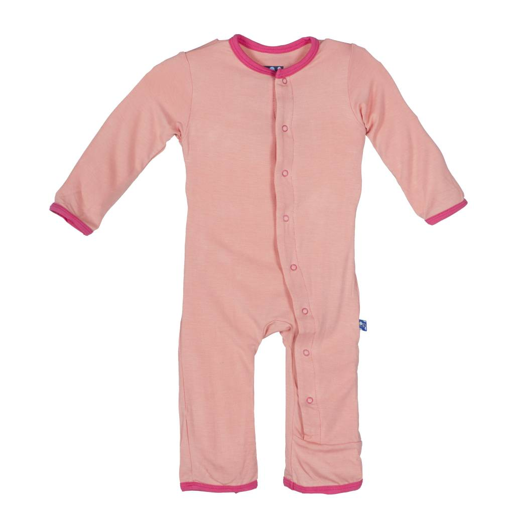 Kickee Pants Coverall - Applique - Fitted Applique Coverall (Blush Blackberries)