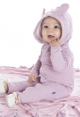 Kickee Pants Coverall - Quilted - Girls QuiltedHoodieCoverall w/Ears