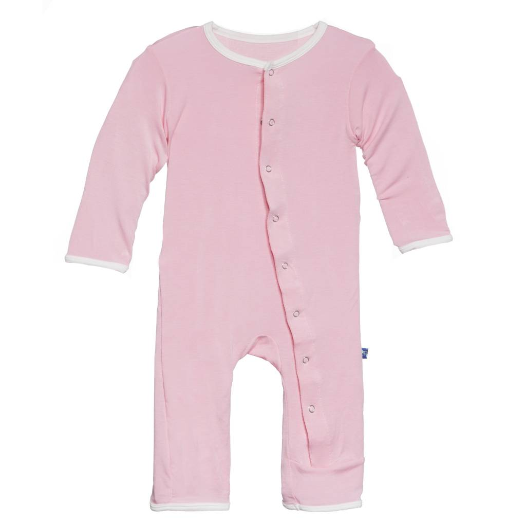 Kickee Pants Coverall - Applique - Holiday Applique Coverall. I Love Mom (Girl)