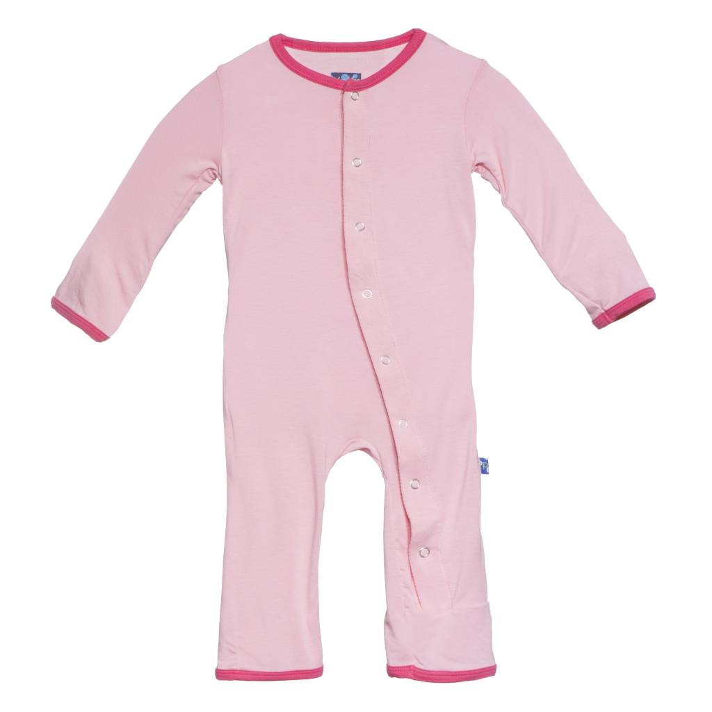 Kickee Pants Coverall - Applique - Holiday Applique Coverall. Lotus Present