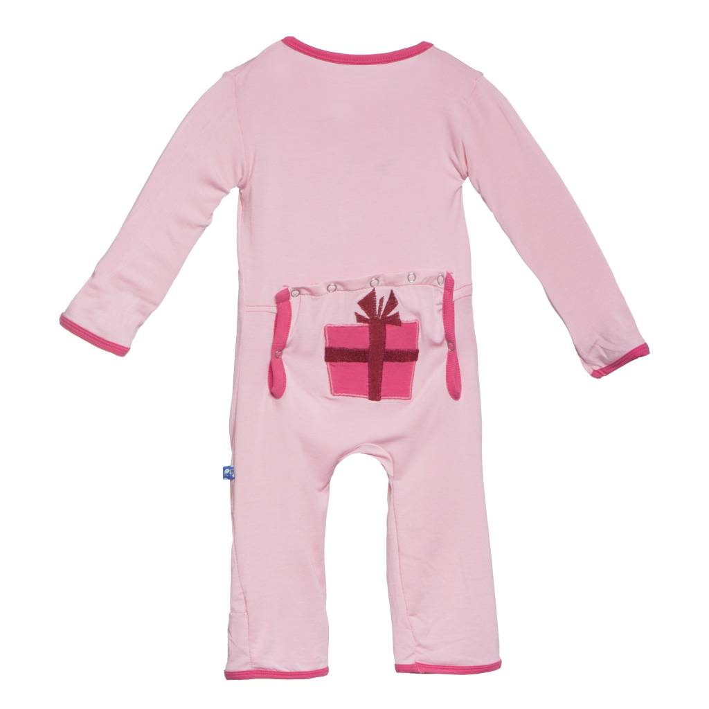 Kickee Pants Coverall - Applique - Applique Coverall Lotus Presents