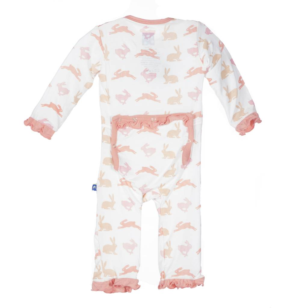 Kickee Pants Coverall - Print - Print Fitted Ruffle Coverall