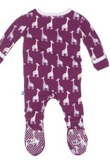 Kickee Pants Footie - Print - PRINT FOOTIE MELODY GIRAFFE