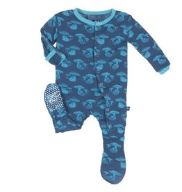 Kickee Pants Footie - Print - PRINT FOOTIE TWILIGHT FIELD MOUSE