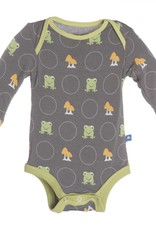 Kickee Pants Onesie - Print Long Sleeve One Piece Rain Toads -