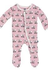 Kickee Pants Footie - Print - PRINT RUFFLE FOOTIE LOTUS PANDA
