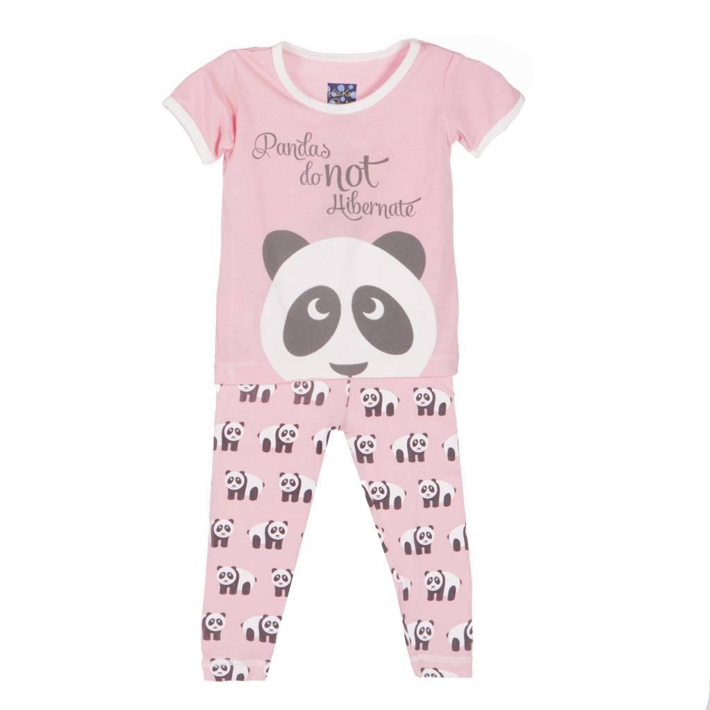 Kickee Pants Pajama Set - Child - PRINT SHORT SLEEVE PAJAMA SET LOTUS PANDA