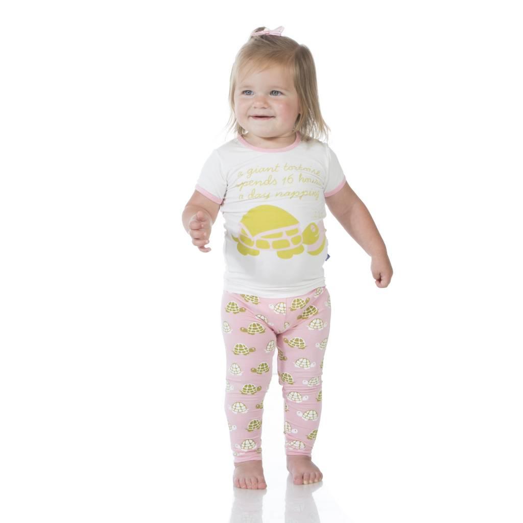 Kickee Pants Pajama Set - Child - PRINT SHORT SLEEVE PAJAMA SET LOTUS TURTLE
