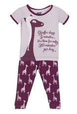 Kickee Pants Pajama Set - Child - PRINT SHORT SLEEVE PAJAMA SET MELODY GIRAFFE