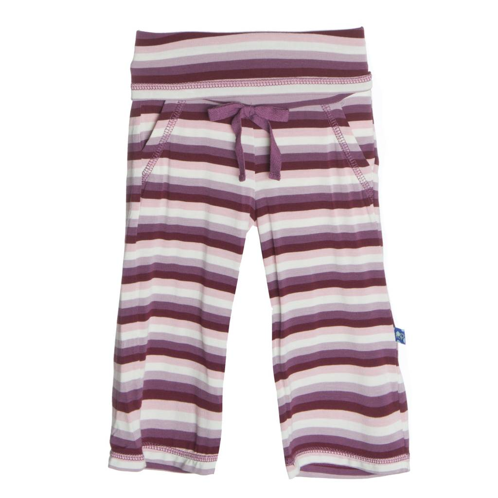 Kickee Pants Pants - Child - Print Yoga Pant Girl Dino Stripe -