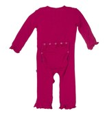 Kickee Pants Coverall - Solid - Solid Ruffle Coverall