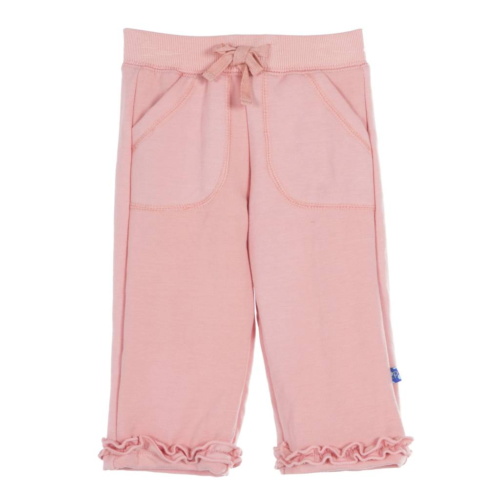 Kickee Pants Sweatpants - Solid Ruffle Sweatpant