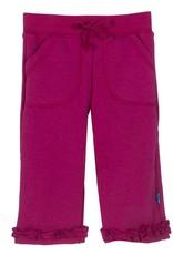 Kickee Pants Sweatpants - Solid Ruffle Sweatpant Rhododendron