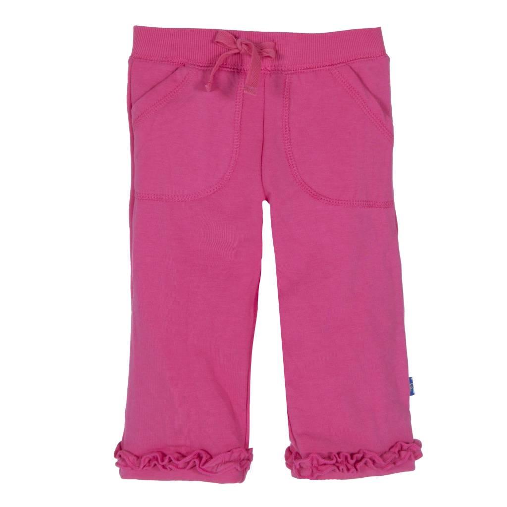 Kickee Pants Sweatpants - Solid Ruffle Sweatpant Winter Rose