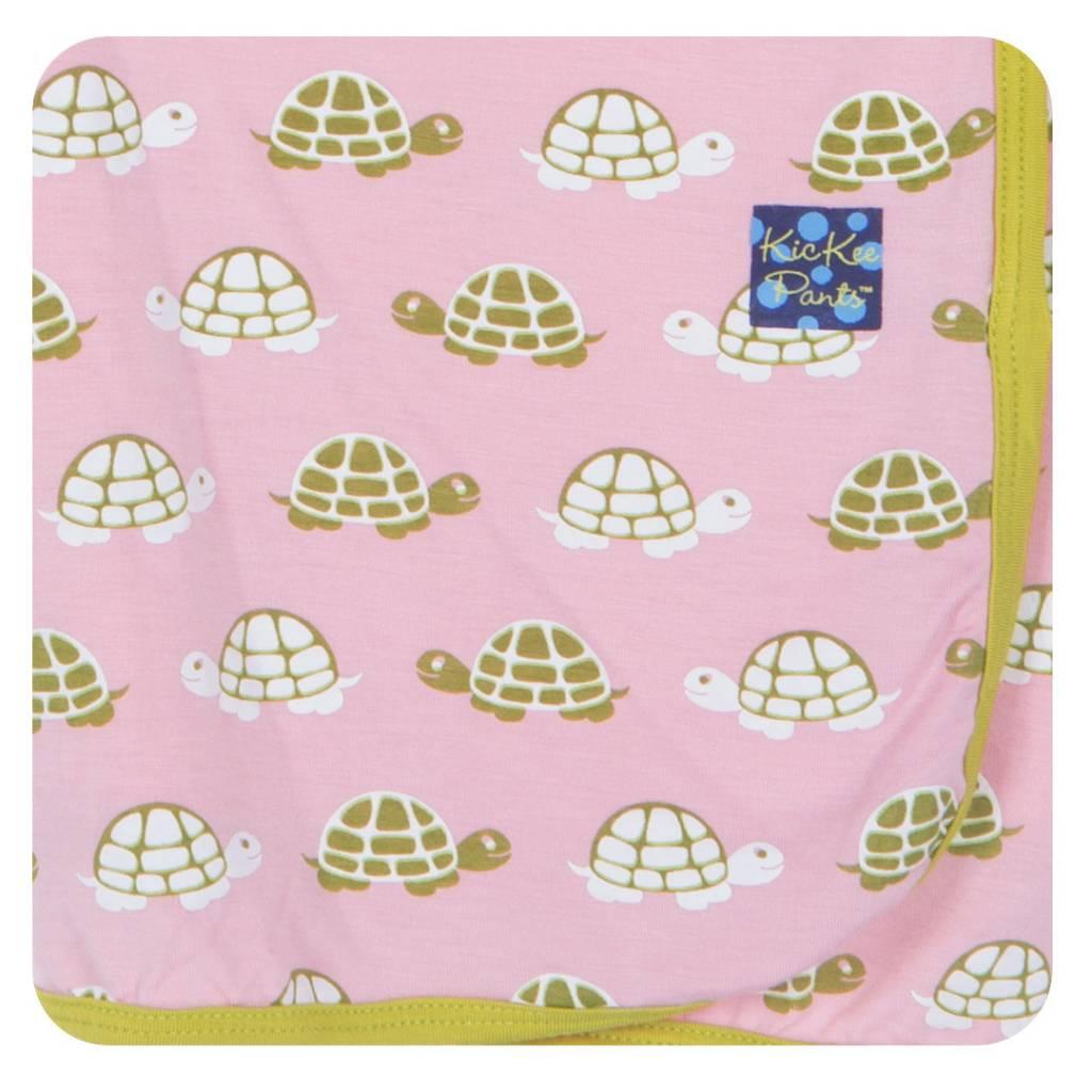 Kickee Pants Blanket - Swaddle - SWADDLING BLANKET LOTUS TURTLE