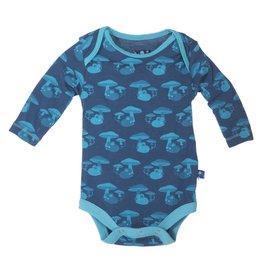Kickee Pants Onesie - TWILIGHT FIELD MOUSE LONG SLEEVE ONE PIECE