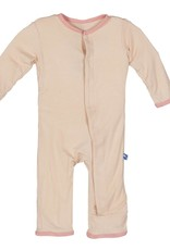 Kickee Pants Coverall - Applique - Fitted Applique Coverall (Blossom Hare)