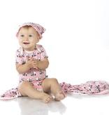 Kickee Pants Blanket - Swaddle - SWADDLING BLANKET LOTUS PANDA