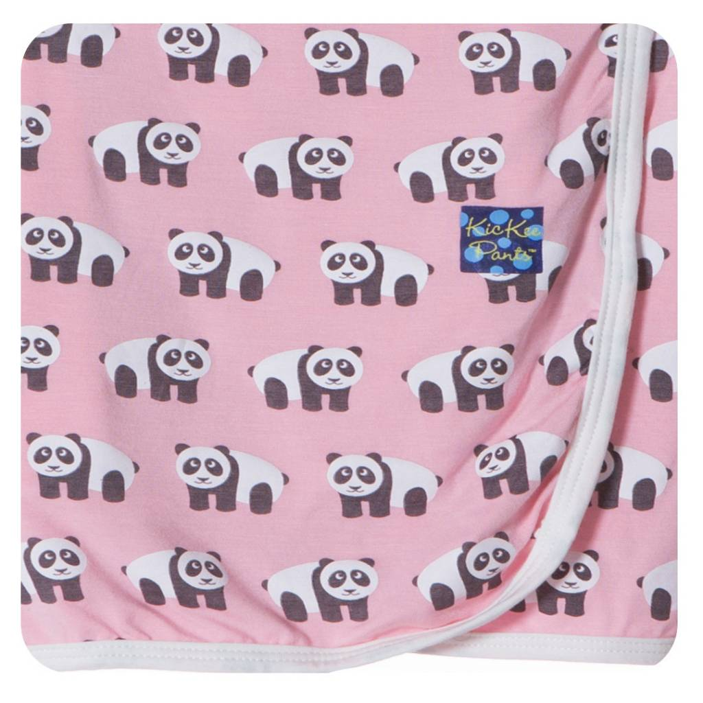 Kickee Pants Blanket - Swaddle - SWADDLING BLANKET LOTUS PANDA