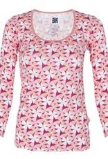Kickee Pants T-Shirt - Adult - APPLE BLOSSOM LONG SLEEVE SCOOP NECK TEE
