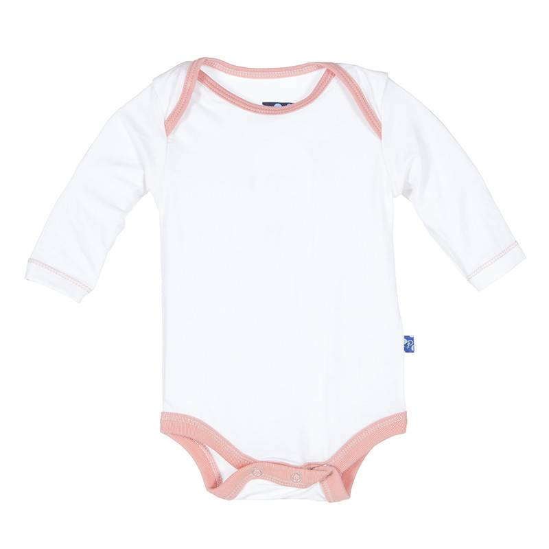 Kickee Pants Onesie - Solid Long Sleeve One Piece