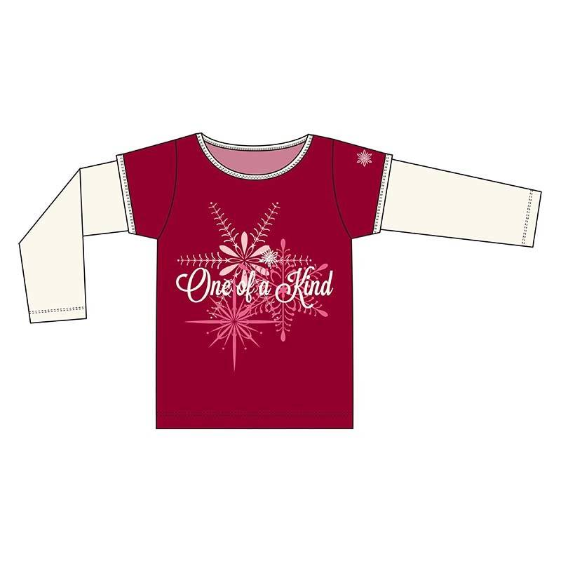 Kickee Pants T-Shirt - Child - Piece Print Double Layer Tee. One Of A Kind