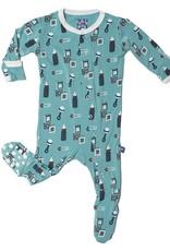 Kickee Pants Footie - Print - Print Footie Glacier Nursery -