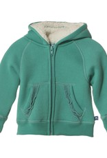 Kickee Pants Sweatshirt - Ruffle Zip Front Hoodie wSherpa-Hood