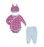 Kickee Pants Gift Set - Ruffle Kimono NewbornGiftSet. Bublgm BchBall 3-6mo