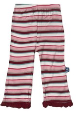 Kickee Pants Pants - Child - Print Ruffle Pant (Girl Bobsled Stripe - 4T)