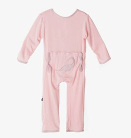 Kickee Pants Coverall - Applique - Applique Coverall Lotus Plesiosaur