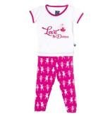 Kickee Pants Pajama Set - Child - CALYPSO BALLERINA SHORT SLEEVE PJ